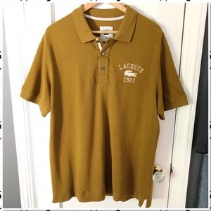 Lacoste Gold Big Spell Out Polo Shirt 6/L